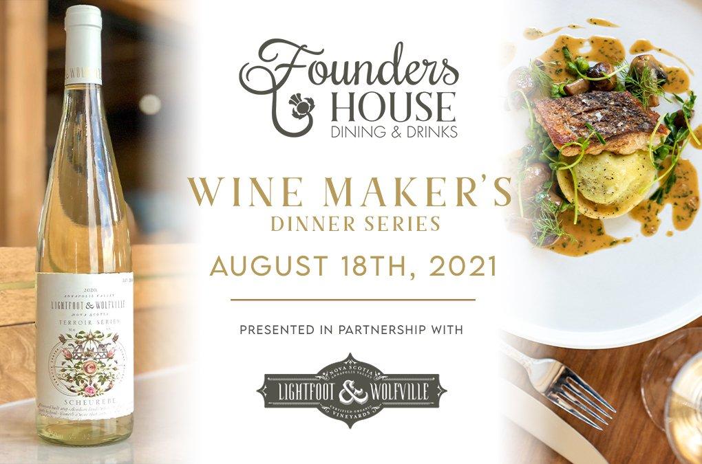 Wine Maker's Dinner Series – Lightfoot & Wolfville