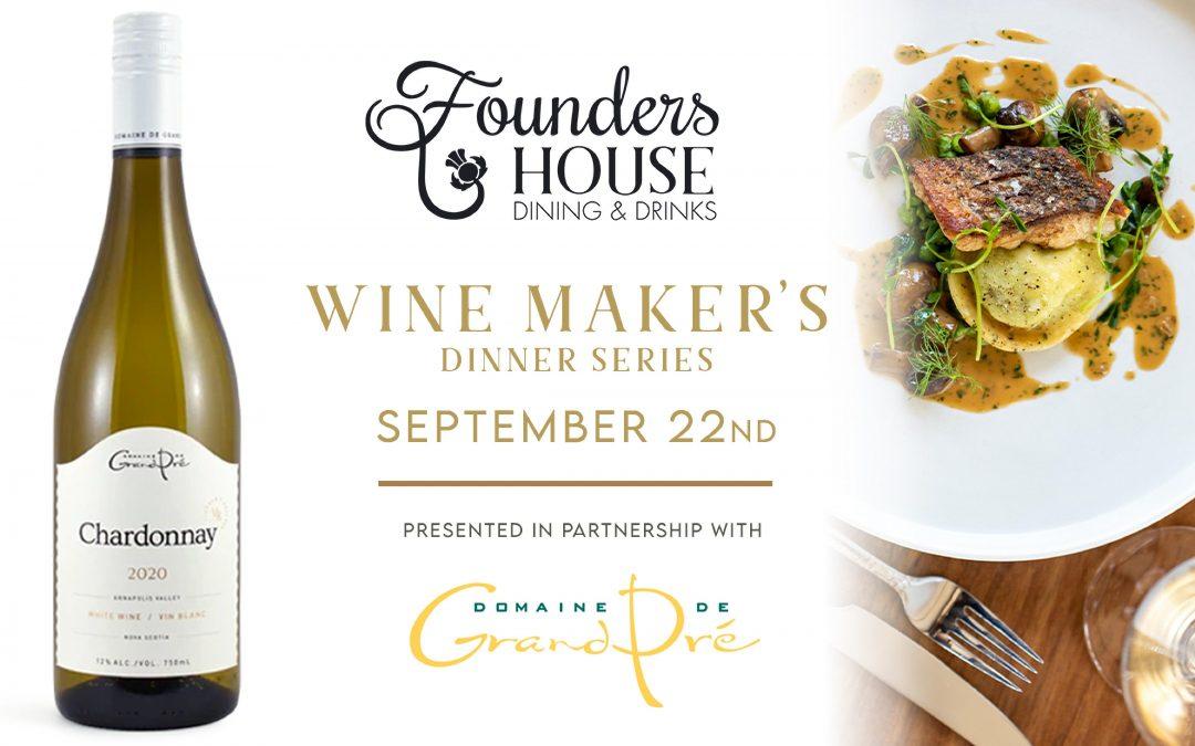 Wine Maker's Dinner Series – September 22nd